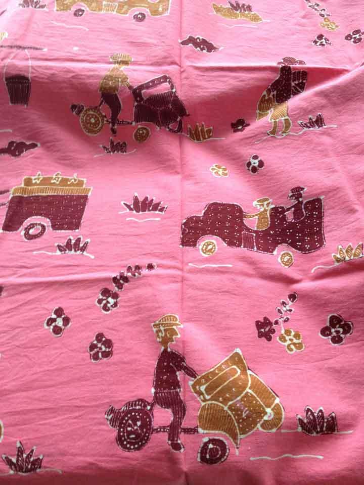 Hand printed Batik
