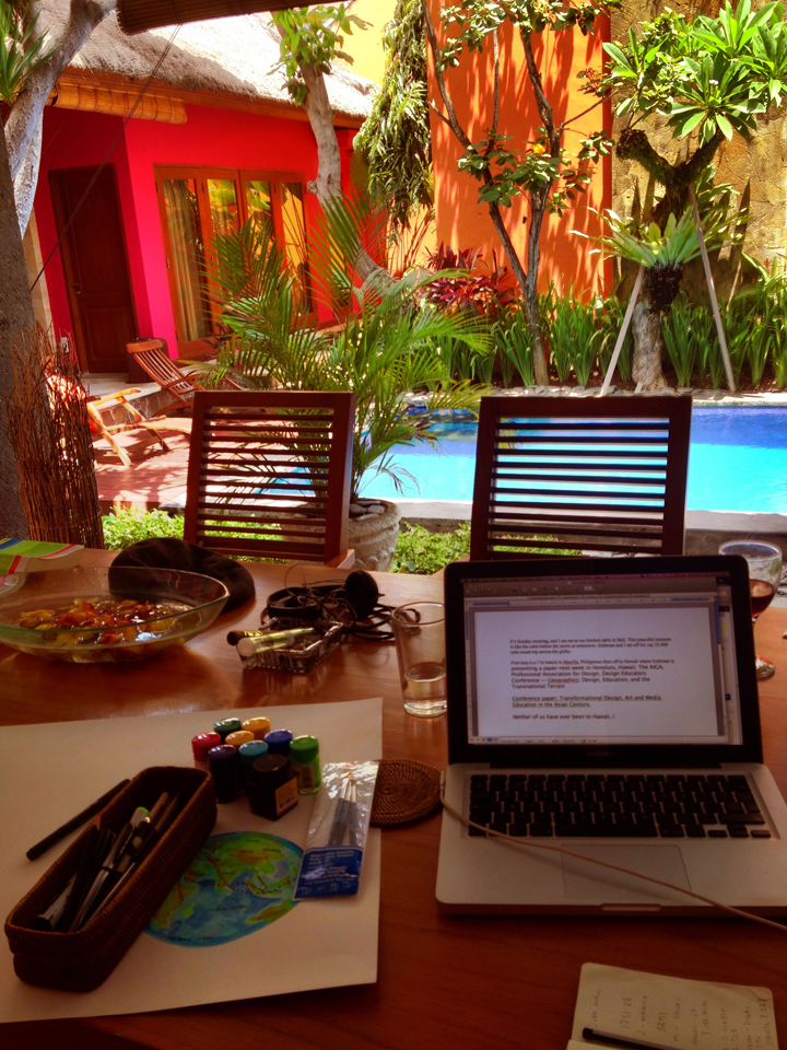 working-at-the-kitchen-table,-Bali