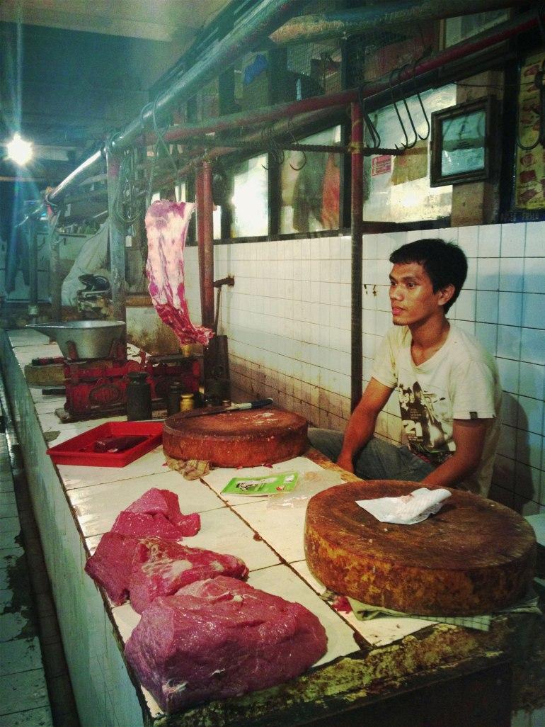 Butcher in Pasar Tebet. Jakarta