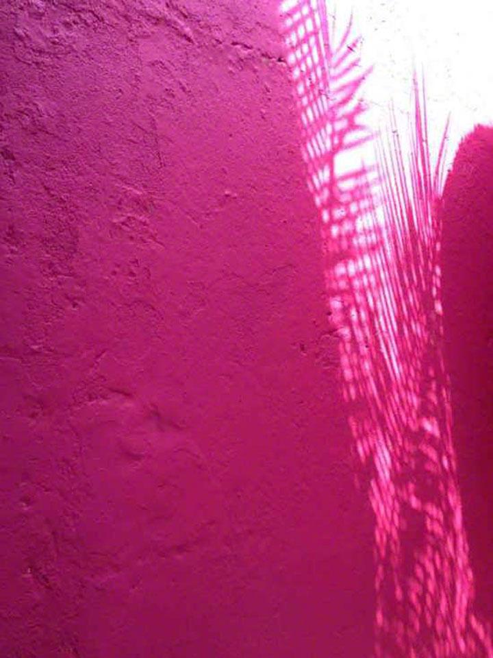 Pink exterior wall. Sanur, Bali