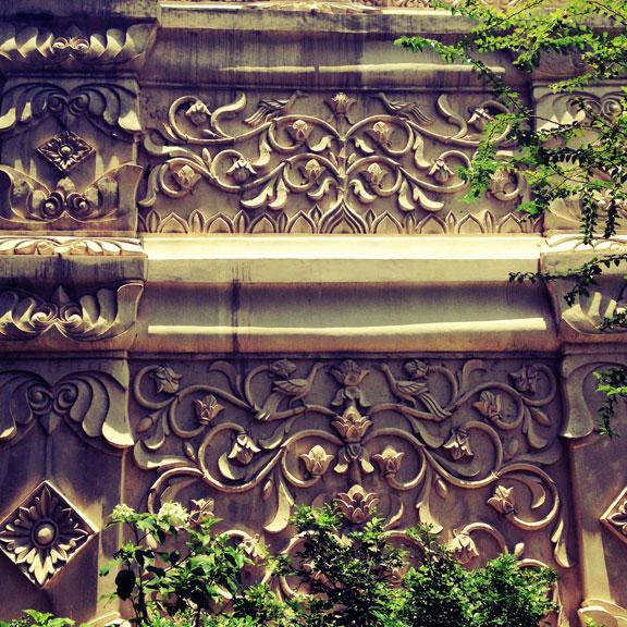 yogyakarta--taman-sari-stone-relief-and-foliage