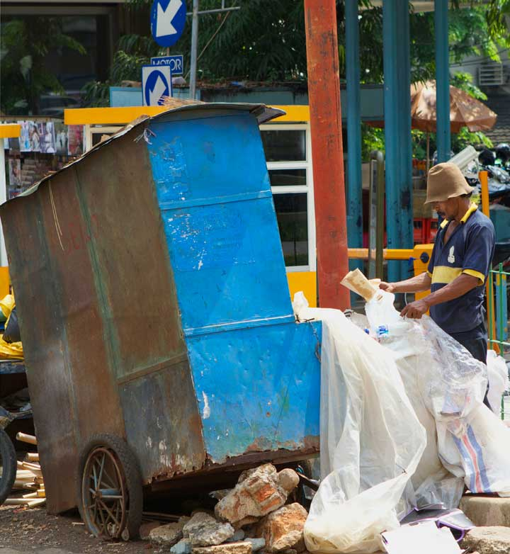 blue-rubbish-cart
