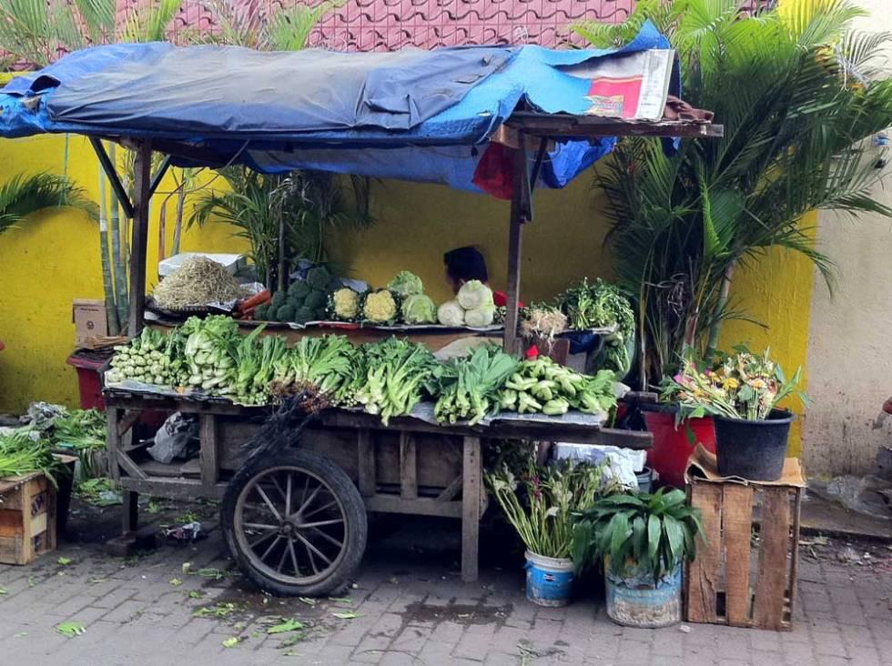 Vegetable stall in Jakarta