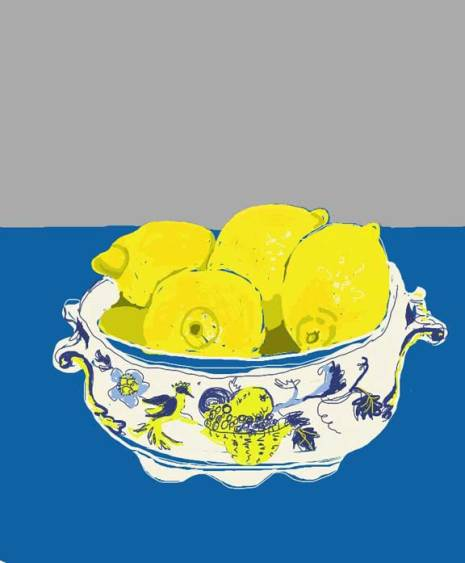 Spode bowl with lemons
